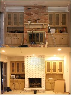 this navy brick fireplace wall also works as a room divider don t you just want to update. Black Bedroom Furniture Sets. Home Design Ideas