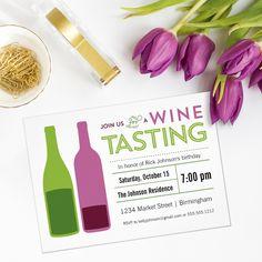 Wine Tasting Invitation Design
