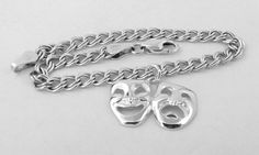 Sterling Silver Theatre/Thespian Comedy by GoldChestJewelry