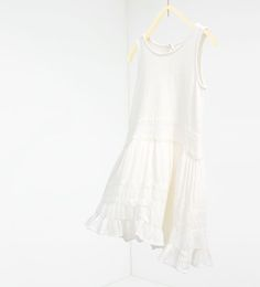 Image 1 of Contrast lace trim dress from Zara
