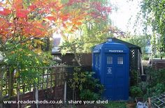 """Best idea for a shed, ever.  """"I don't think of it as just a shed – more a David Tennant trap."""""""