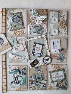 Pocket Letter: mini scrapbook pages in each pocket❤️