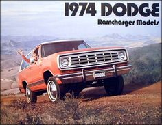 1974 DODGE RAMCHARGER MODELS Dodge Suv, Dodge Pickup, Dodge Trucks, Station Wagon, Cool Trucks, Cool Cars, Ram Power Wagon, Dodge Ramcharger, Little Truck