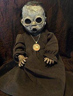 OOAK-Gothic-Skull-Dead-Halloween-Creepy-Decoration-Prop-Doll