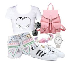 Untitled #6 by esra-akcelik on Polyvore featuring polyvore, fashion, style, Boohoo, adidas and Normal Timepieces