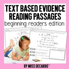 Text Evidence Passages For Beginning Readers Text Based Evidence, Simple Sentences, Independent Reading, Struggling Readers, Fiction And Nonfiction, Reading Workshop, Reading Passages, Beginning Of School, Close Reading