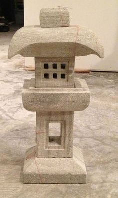 Hand Carved Out of Stone 6 Piece Pagoda Stone Lantern Japanese Stone Lantern