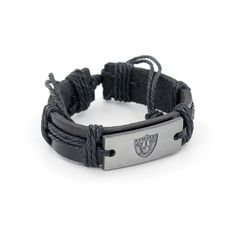6c1d2b67f0139 Amazon.com   NFL Oakland Raiders Vintage Leather Bracelet   Sports    Outdoors
