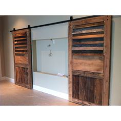 Barn doors to cover tv/wall nook Todd Manring Designs