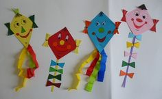 Bastelideen/basteln-Papierarbeiten-Drachen-alle - would be a cute craft to make to focus on shapes