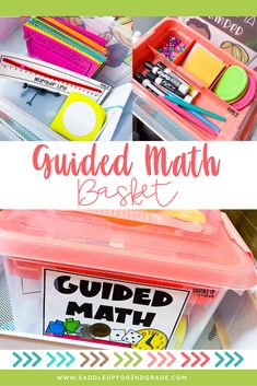 When you're running guided math groups, one of the best ways to stay organized and use your time efficiently is using a guided math basket! Keeping all the supplies you'll need for your small group math lessons in one place that's easy to get to helps to ease transitions and not waste time. Click the pin to see what supplies are in my guided math basket! Kindergarten Math Activities, Math Resources, Teaching Math, Math Games, Teaching Ideas, Simple Math, Easy Math, Guided Math Groups, Special Education Math