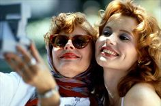 """On the anniversary of Thelma & Louise, Susan Sarandon and Geena Davis dished about the movie and their """"special"""" costar Brad Pitt Thelma Louise, Susan Sarandon, Brad Pitt, Geena Davis, Love Movie, Movie Stars, Movie Tv, Buddy Movie, Movie Trivia"""