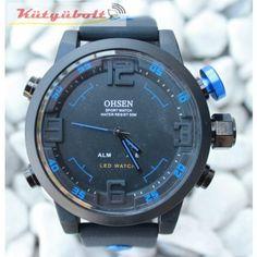 Ohsen LED Férfi Sport karóra - kék CK119996 Watches, Sport, Deporte, Wristwatches, Sports, Clocks