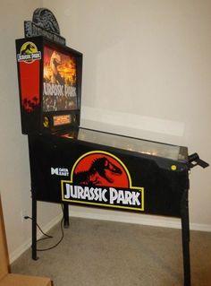 Lot # 214 -  Jurassic Park - Pin Ball Machine - Data East - 1993 -Redding Estate Sales - NorCal Online Estate Liquidation Auctions