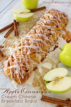 breakfast pastry for fall! Fresh apples, cinnamon, cream cheese ...