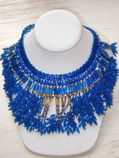 leaf fringe conversion - Beadwork necklaces 2002