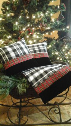 Christmas Buffalo Check Velvet Tartan Plaid by TheElegantClutter