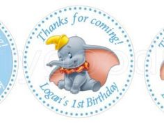 Dumbo cake topper approx 6 inches wide on a white stick.  This cake topper would work perfectly on a Dumbo themed Baby Shower. I have matching cupcake toppers as well as banners and many, many more Dumbo decorations on my shop!  **Dumbo Baby Shower Pacifiers** https://www.etsy.com/listing/256814847/dumbo-baby-shower-pacifier-favors-set-of?ref=featured_listings_row  **Dumbo Cupcake Toppers** http://etsy.me/1qnja4c  **Dumbo Stickers…