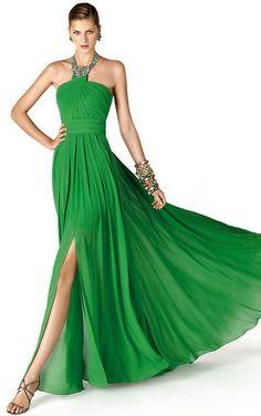 Vestido de fiesta drapeado de San Patrick
