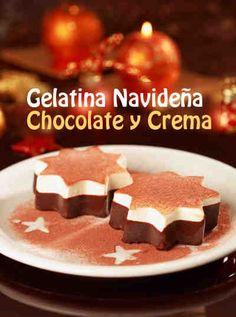 Esta gelatina te va a encantar, el chocolate reina en estas fechas navideñas, y un postre diferente a lo que siempre comemos en estos días te hará que tus invitados pidan más y más de tu famoso postre. #gelatina #navideña #chocolate