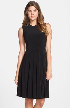 Free shipping and returns on KAMALIKULTURE Jersey Fit & Flare Dress at Nordstrom.com. This easy, elegant crewneck dress is cut from slinky stretch-knit jersey to best show off the swaying flared skirt.