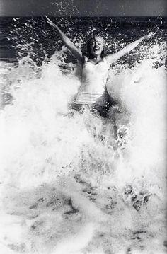 Marilyn Monroe on the Beach in East Hampton, by Sam Shaw - 1958