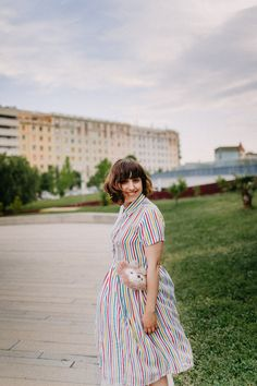 Colorful stripe dres