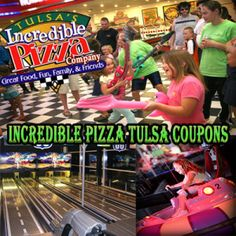 Incredible Pizza Coupons: Tulsa Oklahoma: $13 Off Eat $13 off Get Deal Incredible pizza is an American pizza company that provides great food and fun for the families and friends. They not only offer tasty food but also have a whole bunch of great locations in Memphis, San Antonio, Springfield, St Louis, and Tulsa.