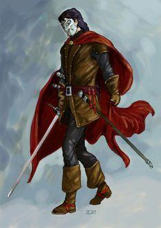 Masked duellist
