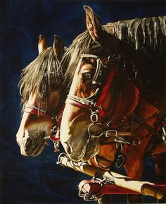 Horse painting by Marlin Rotach