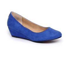 Layla Wedges - Cobalt. Love this colour!