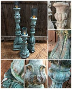 Faux Concrete Candle Holders Mason Jars = Unique Outdoor Lighting*******great idea WITHOUT the mason jars, kinda cheesy with, but maybe could be cool with some other kind of glass candle holders or just fake candles if not in the sun