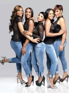 """The Braxtons, R+B girl group consisting of sisters Toni Braxton, Traci Braxton, Towanda Braxton, Trina Braxton, and Tamar Braxton. They are known for the single, """"Good Life. All 5 members star in the WE tv reality show, Braxton Family Values, alongside their mother, Evelyn Braxton. The Braxtons and Toni Braxton sing the show's theme song. They continued to sing and act in various other projects."""