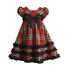 Girls Christmas dress, so cute! Toddler Christmas Outfit, Girls Christmas Dresses, Christmas Outfits, Frocks For Girls, Little Girl Dresses, Girls Dresses, Toddler Fashion, Kids Fashion, African Dresses For Kids