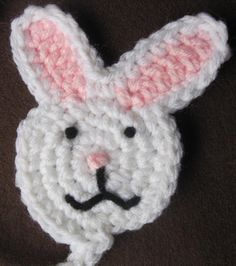 Easter Bunny Crochet Pacifier Pin by TheCrochetBaby on Etsy, $10.00
