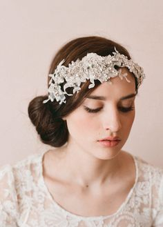 Hand Embellished Lace Headwrap  [by Elizabeth Messina for Twigs & Honey]