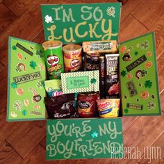 Patricks Day deployment care package for my soldier boyfriend Happy St. Patricks Day deployment care package for my soldier boyfriend Bf Gifts, Diy Gifts For Him, Cute Gifts, Boyfriend Gift Basket, Gifts For Your Boyfriend, Surprise Boyfriend, Boyfriend Care Package, Deployment Care Packages, Relationship Gifts