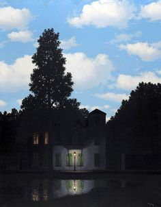"""Rene Magritte ~ """"The Empire of Lights"""" """"The Empire of Lights (French: L'Empire des lumières) is a series of oil on canvas paintings by René Magritte painted between 1953 and They depict the. Rene Magritte, Wassily Kandinsky, Art Fou, Magritte Paintings, Kunsthistorisches Museum, Empire, Pierre Auguste Renoir, Foto Art, Original Art For Sale"""