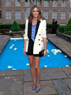 Olivia Palermo Is In L-O-V-E With Her Manolo Blahnik Hangisi Pumps. Do You Wear Your Favorite Shoes Often?
