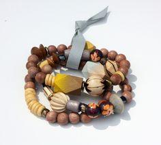 laila bracelet ~ yellow/gray