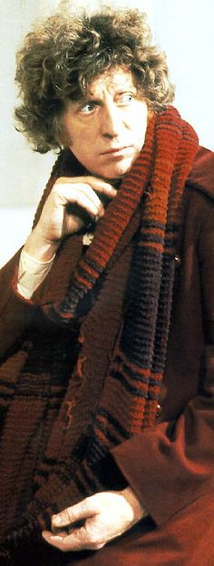 Tom Baker, the first Doctor I ever saw on TV.  He was not really all that handsome, but he had the sexiest voice on TV, and millions of women fell in love with him.  Yeah, I was one of those, too.