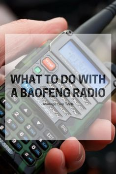 Tips and ideas for things to do with your Baofeng radio, beyond just talking Radios, Emergency Radio, Emergency Preparedness, Ham Radio Antenna, Done With You, Two Way Radio, Just In Case, 3d Printing, Things To Do