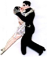 Dancing Dance Ballroom Iron On Embroidered Applique Patch Tango