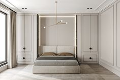 Park Avenue on Behance Home Room Design, Modern Bedroom Design, Bed Design, Modern Classic Bedroom, Modern Classic Interior, D House, House Rooms, Adobe Photoshop, Lightroom