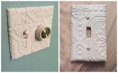 Wallpaper covered switch plates