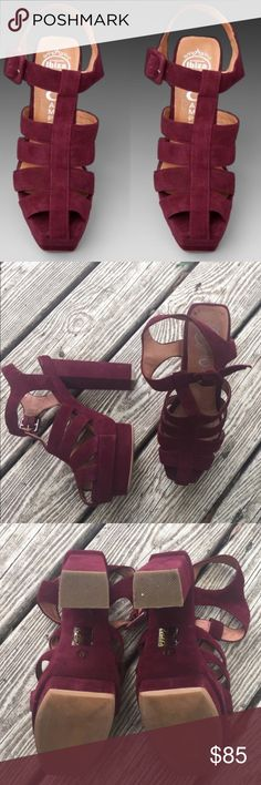 SALE TODAY ONLY✨Jeffery Campbell maroon heels Gently used and in great condition. Perfect fall shoes . Up for trade for another pair of JC Jeffrey Campbell Shoes Heels