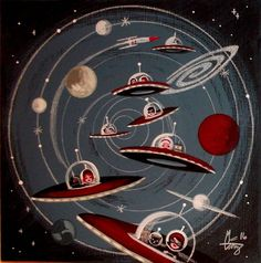 Image result for shag el gato inspired space tiki paintings