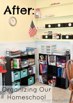 My project for this week, in my quest for getting organized this year, was organizing our homeschool area. It wasn't a big deal this fall because I only had Emily in kindergarten. But since w…