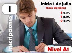 Inscripciones curso de alemán para hispanohablantes A1. www.xplicame.com