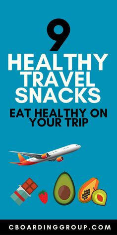 """Fight the """"travel bulge"""" by eating healthier on the road with this list of Healthy Travel Snacks. Travel smarter and healthier on your next trip!"""